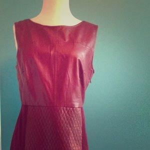 Esley burgundy red hot dress.